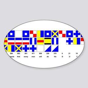 England Expects Signal Black text Sticker