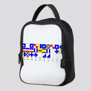 England Expects Signal Black text Neoprene Lunch B