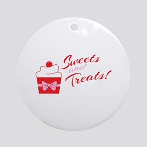 Sweets And Treats Round Ornament