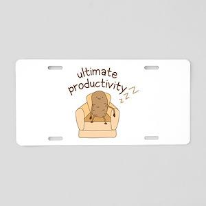 Productivity Potato Aluminum License Plate
