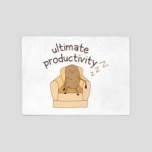 Productivity Potato 5'x7'Area Rug