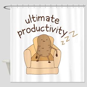 Productivity Potato Shower Curtain