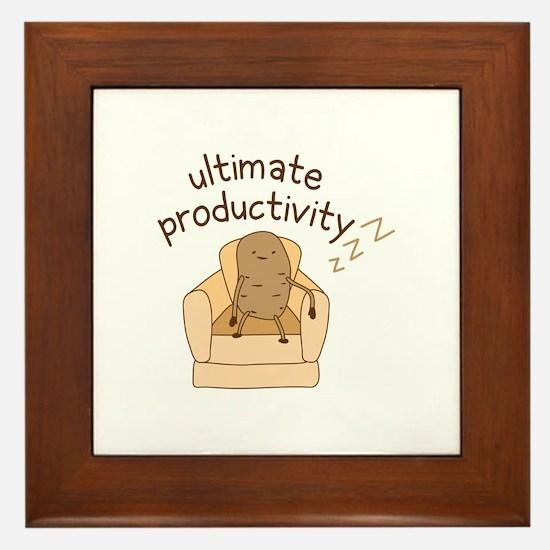 Productivity Potato Framed Tile