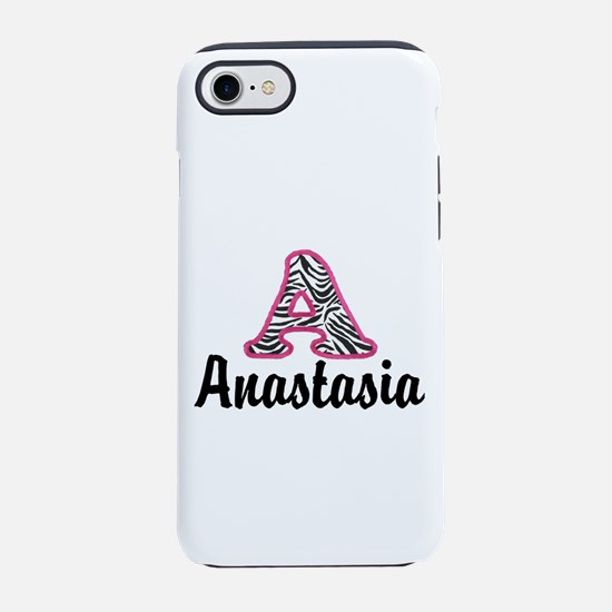Zebra A Personalize with name iPhone 8/7 Tough Cas
