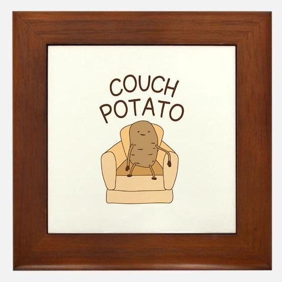 Couch Potato Framed Tile