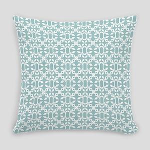 Light Blue And White Modern Design Everyday Pillow
