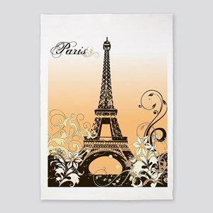 Eiffel Tower Paris 5'x7'Area Rug