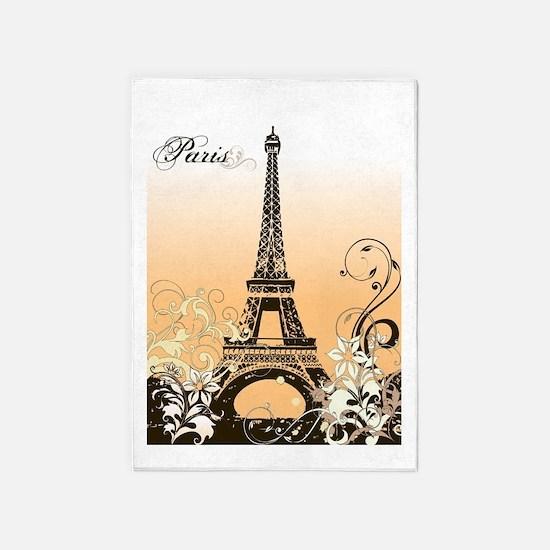 Eiffel Tower Paris 5 X7 Area Rug