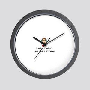 La-la-la-la - I'm not listening Wall Clock