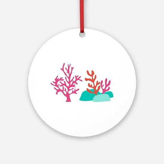 Sea Coral Round Ornament