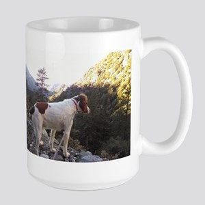 Brittany Spaniel Hiking Stainless Steel Travel Mug