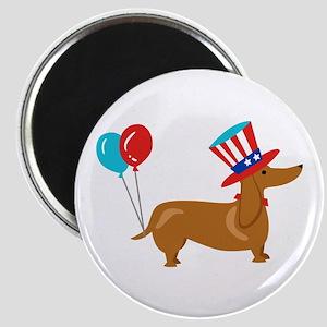 Patriotic Dachshund Magnets