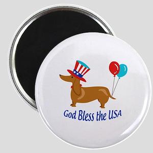 God Bless USA Magnets
