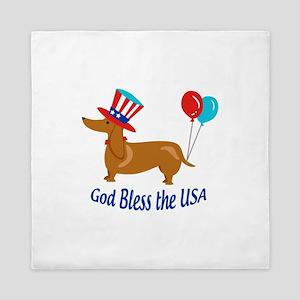 God Bless USA Queen Duvet