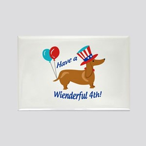 Have A Wienderful Fourth Magnets