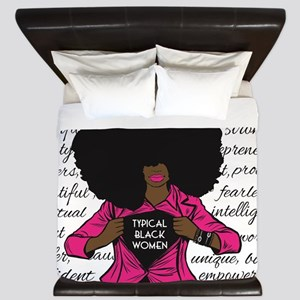 Typical Black Women Logo King Duvet