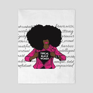 Typical Black Women Logo Twin Duvet Cover