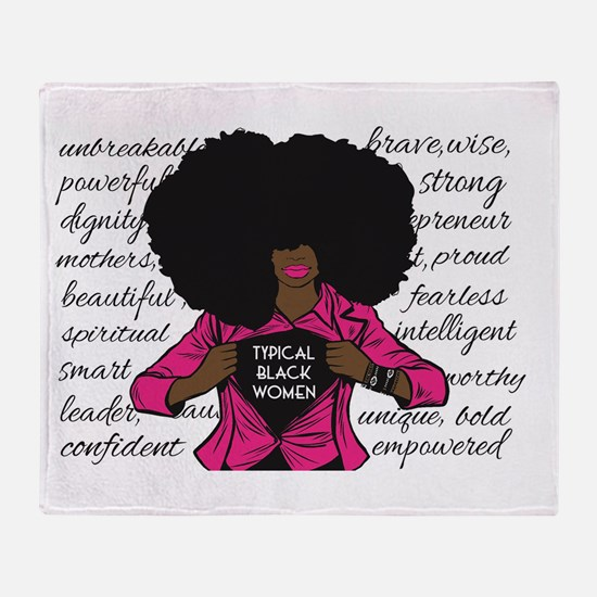 Typical Black Women Logo Throw Blanket