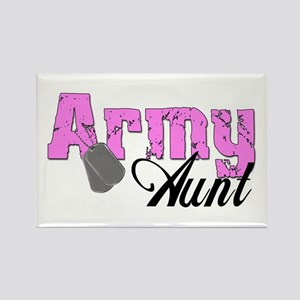 Army Aunt Rectangle Magnet