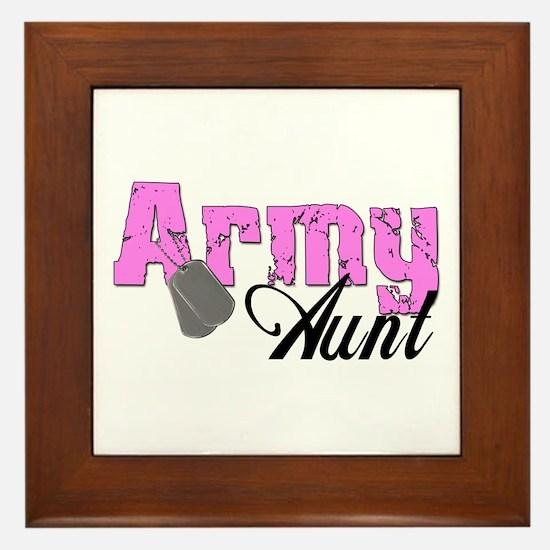 Army Aunt Framed Tile