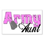 Army Aunt Rectangle Sticker