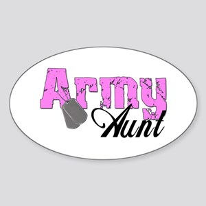 Army Aunt Oval Sticker