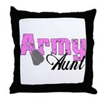 Army Aunt  Throw Pillow