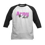 Army Aunt Kids Baseball Jersey