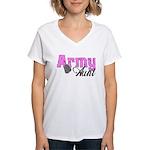 Army Aunt Women's V-Neck T-Shirt
