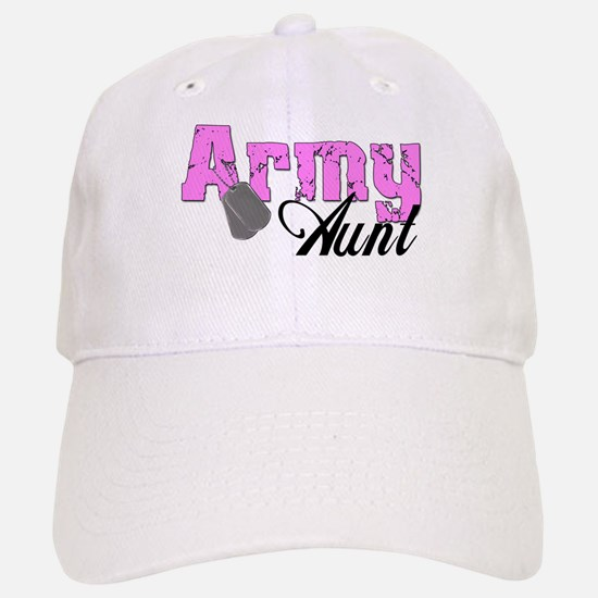 Army Aunt Baseball Baseball Cap