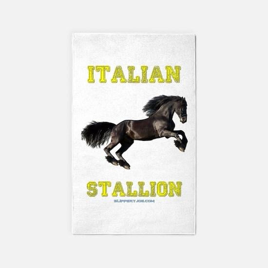 Cute Italian stallion Area Rug