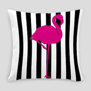 Hot Pink Flamingo On Black & White Everyday Pi