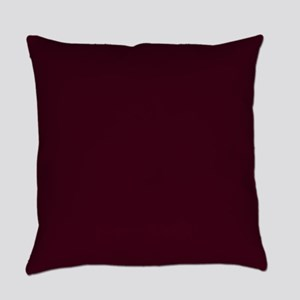 Solid Burgundy Red Everyday Pillow