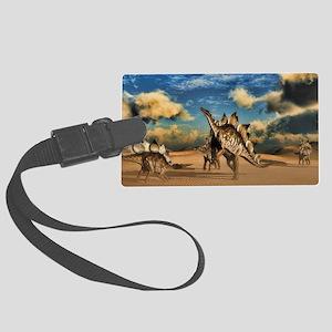 Stegosaurus dinosaur in the desert Luggage Tag