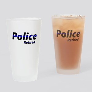 Retired Police Drinking Glass