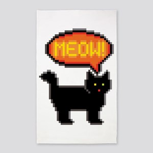8-Bit Cat Meowing Area Rug