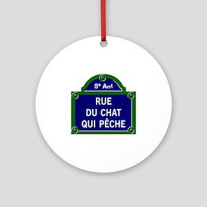 Rue du Chat qui Pêche, Paris - France Ornament (Ro