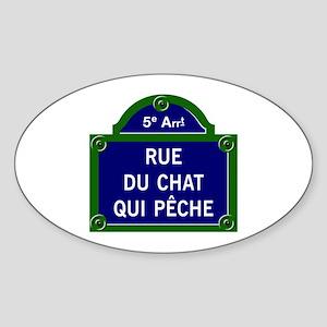 Rue du Chat qui Pêche, Paris - France Sticker (Ova