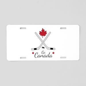 Go Canada Hockey Aluminum License Plate