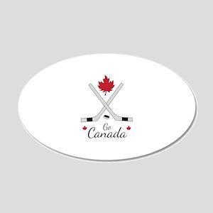Go Canada Hockey Wall Decal
