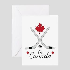 Go Canada Hockey Greeting Cards