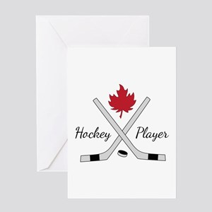 Hockey Player Greeting Cards
