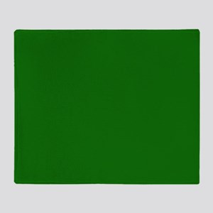 Solid Green Throw Blanket