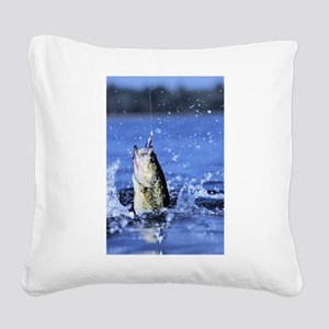 fishing Square Canvas Pillow