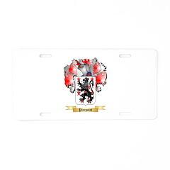 Pierpoint Aluminum License Plate