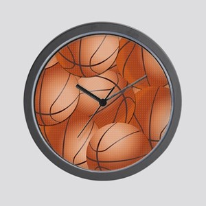 Basketball Pattern Wall Clock
