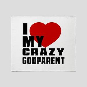I Love Godparent Throw Blanket