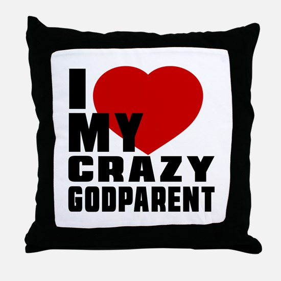 I Love Godparent Throw Pillow