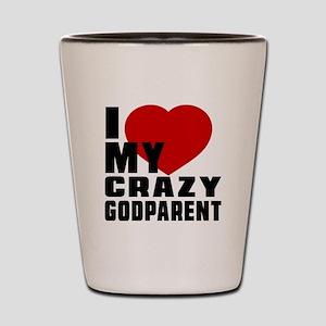 I Love Godparent Shot Glass