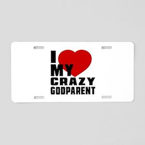 I Love Godparent Aluminum License Plate